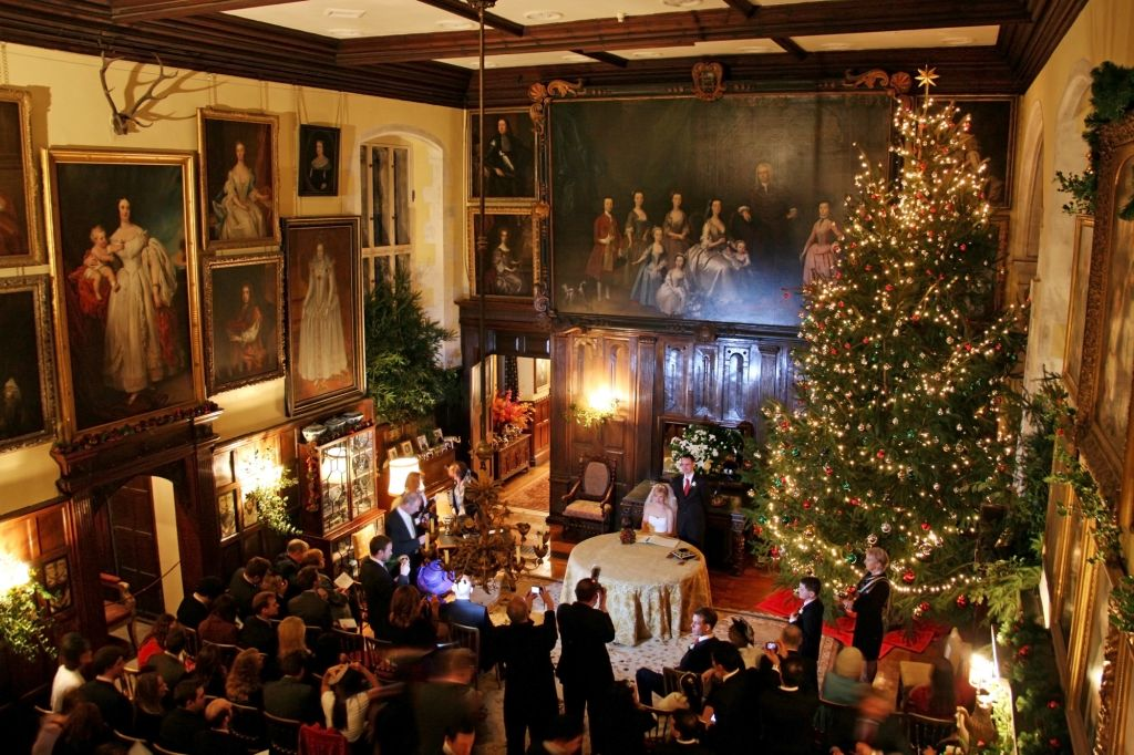 christmas tree wedding at loseley